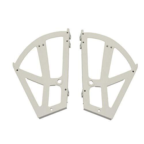 SENRISE - Bisagras de armario de almacenamiento, 1 par, para zapateros, con bastidor de plástico de dos capas, accesorios de repuesto para estante de zapatos, blanco