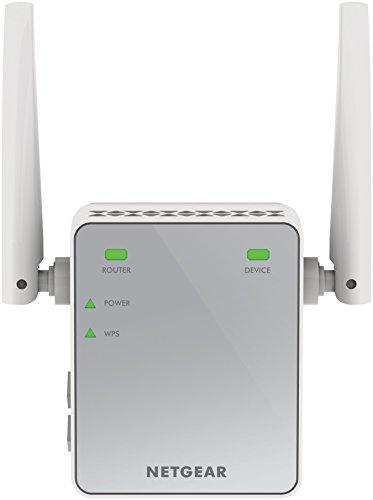 Netgear EX2700-100PES Ripetitore Wifi N Wireless, Copertura per 1-2 Stanze e 5 Dispositivi, 300 MBps, Design Compatto, Argento