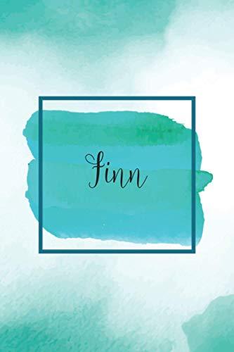 Finn - Personalisiertes Notizbuch A5: Universelles Notizheft mit Namen, 120 Seiten, kariert, Tagebuch, Bullet Journal, Ideenbuch, Schreibheft, ... Muttertag, Einschulung, Weihnachten