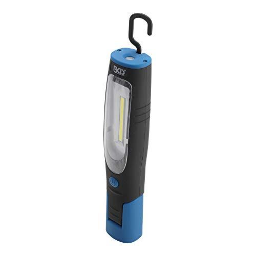 BGS 85324 | COB-LED-Werkstattleuchte mit Magnet und Haken | Arbeits-Lampe mit 400 Lumen für Werkstatt und Hobby | 180° drehbar