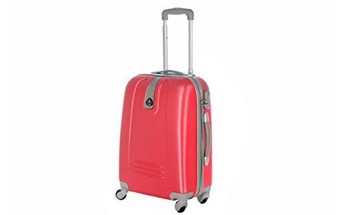 Trolley da cabina valigia rigida 4 ruote in abs policarbonato antigraffio e impermeabile compatibile voli lowcost come Easyjet Rayanair art 6802
