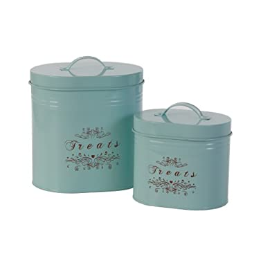 One for Pets  Treats  Canister Set of 2 , Blue  1.5lbs & 2.8lbs