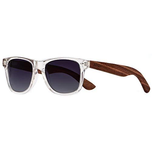 ANDWOOD Occhiali da sole in legno polarizzati per uomo Donna Protezione uv Specchio con cornice in bambù