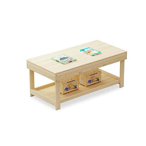 ROCKION Deluxe Hardhout activiteit speeltafel voor kinderen met hoes, grote opbergruimte, massief hout kinderen zand tafel voor speelkamer/kleuterschool, primaire kleuren
