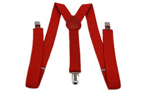 MEISHINE® 2.5 * 100cm Unisex Tirantes Elástica Ajustable Tirantes 'Y' para Hombre Mujer 3 Pinzas