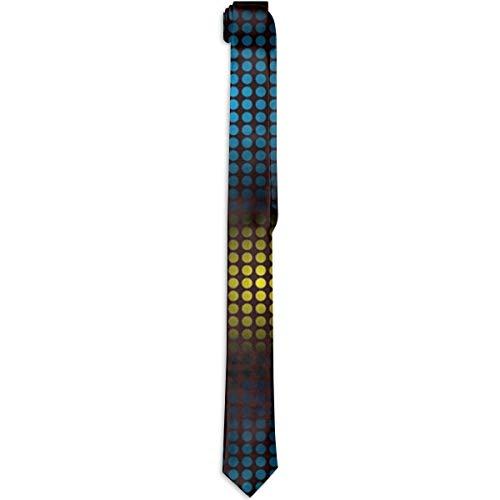 Ruin Neon-Leuchten Krawatte, lustige Krawatte, breit, für Männer und Jugendliche