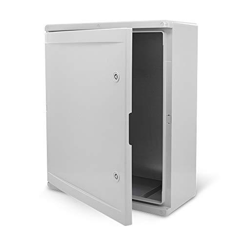KOOP Elektro Schaltschrank Industriegehäuse IP65 verzinkter Montageplatte Verriegelung Tür mit umlaufender Dichtung Wandgehäuse Gehäuse Leergehäuse ABS Kunststoff leer Schrank 500x700x250 50x70x25