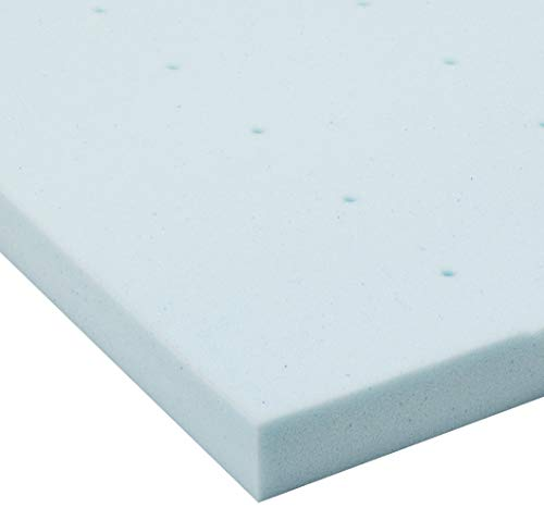 LUCID 2-Inch Gel Infused Memory Foam Mattress Topper - Queen