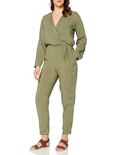 Marca Amazon - find. Soft Tie Waist Mono Mujer, Verde (Green), 40, Label: M