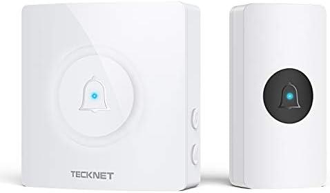Wireless Doorbell TeckNet Waterproof Door Bell Chime Kit Operating at 1000 Feet with 38 Melodies product image