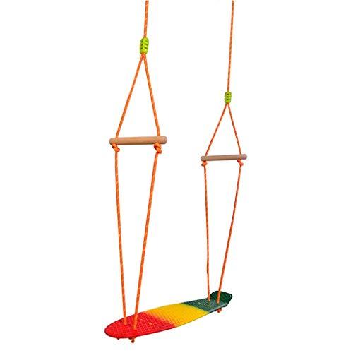 JFFFFWI Safety Swing Kinder Kunststoff-Skateboard-Schaukeln für den Innen- und Außenbereich Hängende Schaukeln Garten-Sporttraining zur Erweiterung der Schaukeln Vergnügen Kindheit (Farbe: Bunt, Grö
