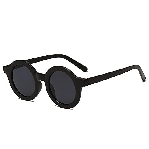 YAMEIZE Gafas de Sol Redondas Retro Clásicas para Mujer Hombre Moda Gafas de Protección UV400 Vintage