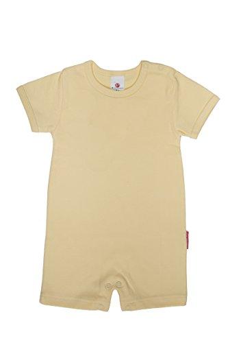 100% Katoen Baby Unisex Romper Slaappak Babygrow Jumpsuit Bodysuit Effen Kleuren Maat 0-24 Maanden 92CM/18-24MONTHS YELLOW ROMPER