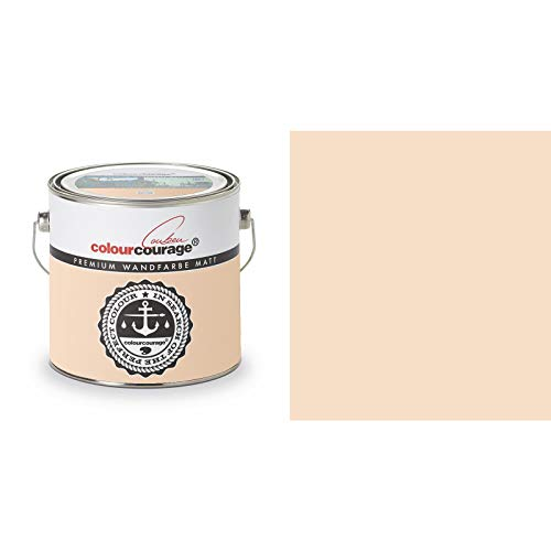 2,5 Liter Colourcourage Premium Wandfarbe Peanut Sunrise Beige Orange | L719778617 | geruchslos | tropf- und spritzgehemmt