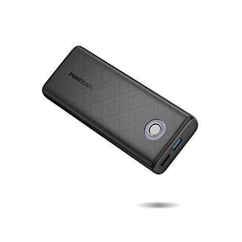 POWERADD Power Bank 20000mAh QC18W Cargador Portátil Batería Externa Carga Rápida para iPhone, iPad, Samsung,Huawei, Xiaomi y Otros Dispositivos-Negro