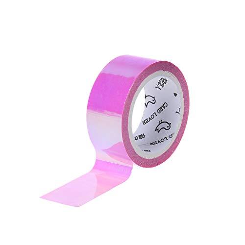 Youliy Rhythmische Gymnastik-Dekoration Holografischer RG Prismatischer Glitzer Tape Hoops Stick violett