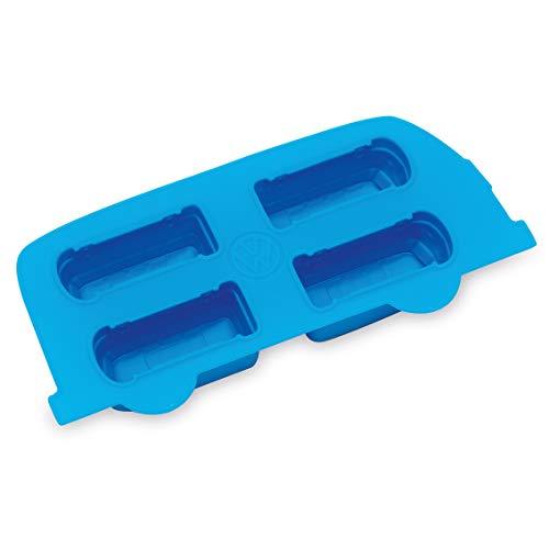 Board Masters VW Eiswürfelbehälter - Volkswagen-Bulli T1 Samba-Bus Blau - Eiswürfelform und Kochform - Flexibler Antihaft-Silikon - VW Bulli-Geschenk
