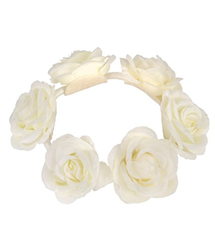 SIX Haargummi: Haarschmuck mit Rosen aus Stoff [Zopfband für Frauen] – Perfekt für den Dutt » Damen Haarteil « Ideal für Hochsteckfrisuren (313-656)