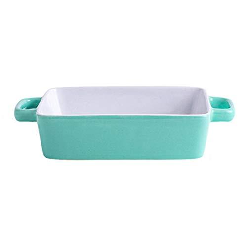 HFLK Mikrowelle Backblech Keramik gebackenen Reis Backblech Haushalt hellblau (24,5 * 17 * 4,5 cm)