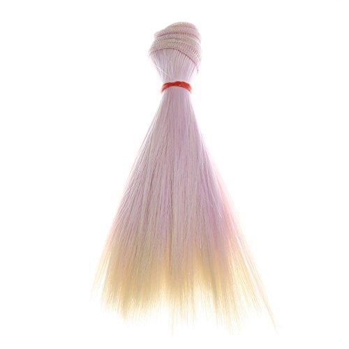 ✫Higlles Mode 15 cm gros Cheveux Raides Bricolage Cosplay Extension De Cheveux Remy Clip Dans De Cheveux Humains, Vrais Cheveux Naturels