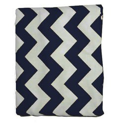 Chevron Recommendation Bassinet Sheet - 17x31 Color: Navy Size: Bombing free shipping