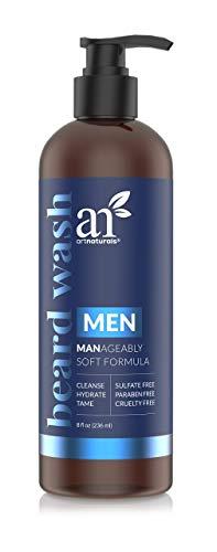 artnaturals Natural Beard Shampoo Wash - (8 Fl Oz   236ml) - Infused with Aloe Vera, Tea Tree and Jojoba Oil - Sulfate Free