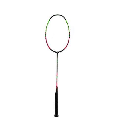 JGRH 9U 57g Full Carbon Professional Badminton Raquetas G5 Ultralight Offensive Racquet Padel 30-32lbs Cuerdas Libres Badminton Raqueta (Color : Pink)