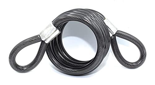 Cable de Acero con Cubierta plástica para Casco, Moto, Bicicleta. Diámetro 10 mm y 1500 mm Largo