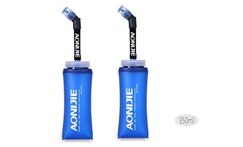 Docooler Botella Blanda comprimible Pajita, sin BPA, para Corredores, 350ML