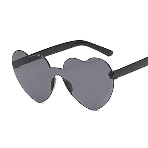 QSLS 1 pc Vintage Sunglass Moda Amor corazón Gafas de Sol Mujeres Linda Sexy Retro Gato Ojo Vintage Barato Gafas de Sol Femenino (Lenses Color : Black)