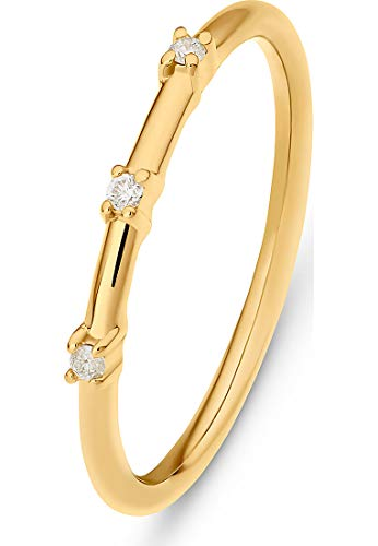 Guido Maria Kretschmer Damen-Damenring 925er Silber 3 Diamant 52 Gold 32011658