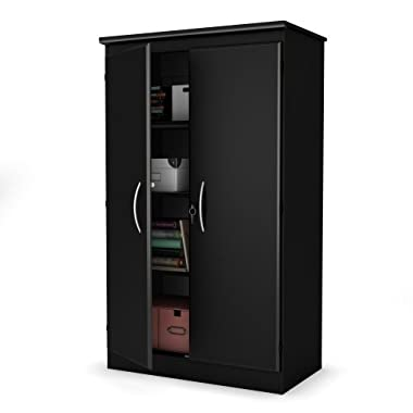 South Shore Morgan Collection Storage Cabinet, Solid Black