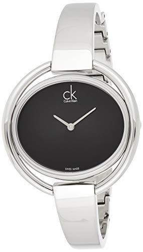 Calvin Klein–Reloj de Pulsera analógico para Mujer Cuarzo Acero Inoxidable K4F2N111