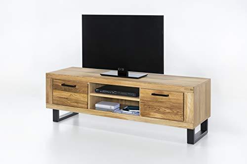 TV Board Lowboard TV Kommode in Wildeiche geölt Teilmassiv Breite 170cm Höhe 52cm homeforyou24