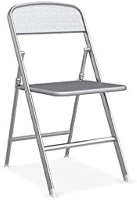 Sedia pieghevole Alu Connubia Calligaris struttura alluminio satinato e sedile grigio