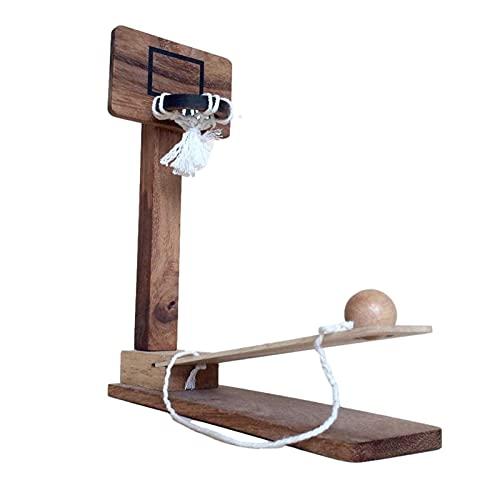LOVOICE Holz Desktop Basketball Ring Spiel, Basketball Tischspiel, Spielzeug Familien Ring Wurf Spiel, Für Kinder Erwachsene Im Freien Zu Hause