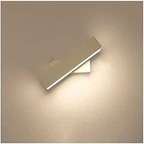 Aplique de pared Lámpara de aplique de pared Lámpara de pared LED Lámpara de pared giratoria Lámpara de cabecera de dormitorio de pasillo decorativo creativo (Color: Dorado, Tamaño: 26 * 10 * 5 cm)