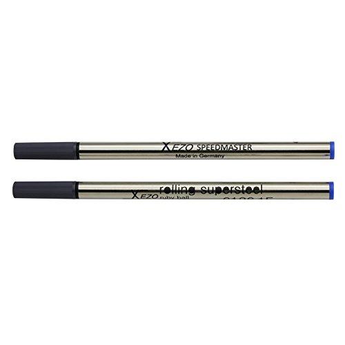 Xezo Pens Speedmaster Fine Rollerball Refills, Pack of 2, Blue Ink (Blue6126RollerballRefills)