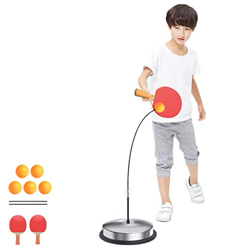 Lowest Prices! ADKINC Stable Table Tennis Trainer, Flexible Shaft, Ping Pong Ball Training, with 2 R...