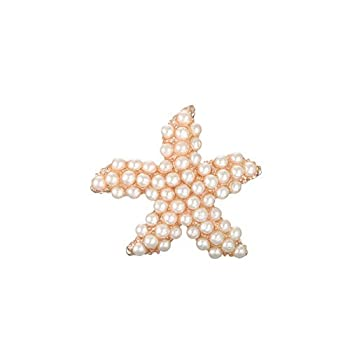Xucus 30mm Pearl Rhinestone Crystal Starfish Embellishment Flatback DIY Invitation 50pcs/lot  BTN-5716  -  Color  Pearl Rose Gold