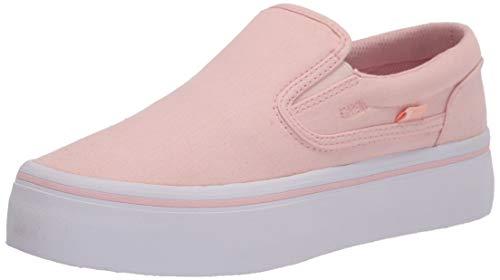 DC Women's Trase Slip Platform Skate Shoe, Light Pink, 10.5 us medium