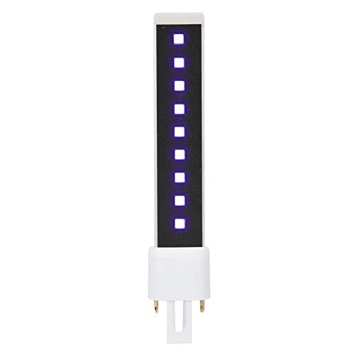 Solomi Bombilla de luz UV - Bombilla de luz LED UV, Bombilla de lámpara de reemplazo de 9 vatios para Secado de curado en Gel de uñas 365 + 405 NM Luz Doble
