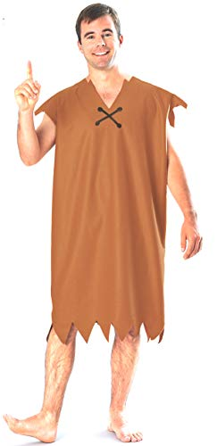 Rubie's Barney Rubble Adult Costume, Brown, Size XL