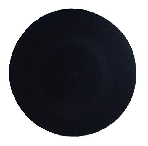 rsafashion Baskenmütze für Damen, aus reiner Schurwolle, für Winter und Frühling. Gr. One size, Schwarz