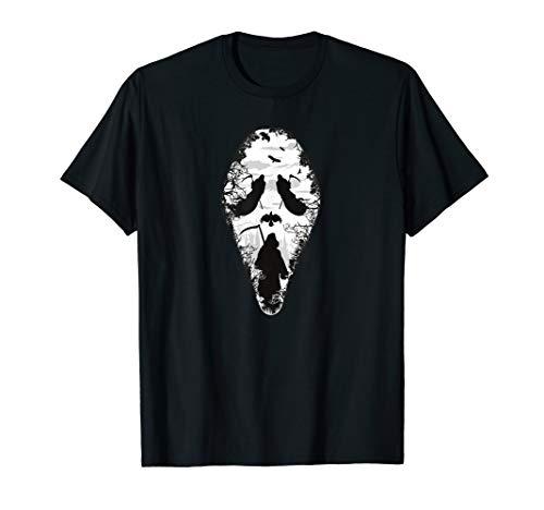 Scary grim reaper Halloween scream mask T-Shirt