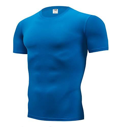 DONNU Fashion Pure Color T-Shirt Herren Kurzarm Compression Tight T-Shirts Shirt S XXXXL Sommerkleidung T-Shirts