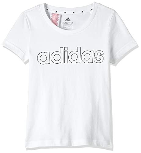 adidas GN4045 G Lin T T-Shirt Bambina White/Black 1112