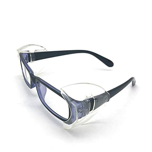 CAREOR Eyeglass Wing, Anti-Slip On Clear Side Shields for Safety Glasses,...