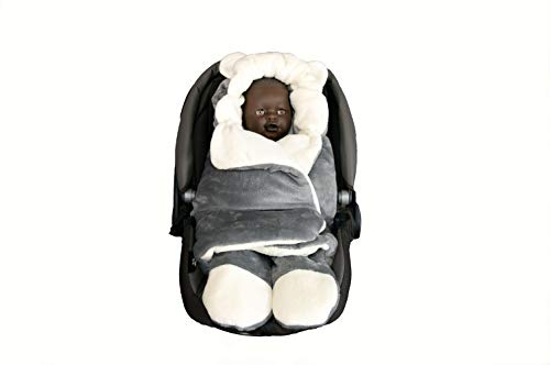Nieuw!! Extra zachte babydeken voor pasgeborenen, babys, babys, babys, babys, babys, babys, babys, buggy, sneldrogend. Taglia unica bambino bambina GRIGIO-PANNA