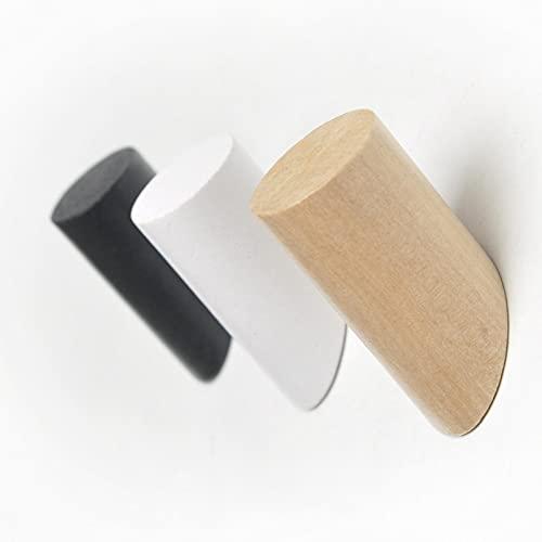 1 pieza nuevo Simple moderno gancho de madera maciza para colgar en la pared decoración Hou toalla titular de la llave gancho de montaje ganchos para abrigos de habitación-gancho grande, color madera
